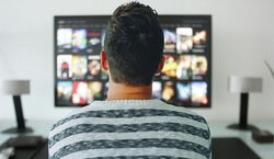 person watching tv